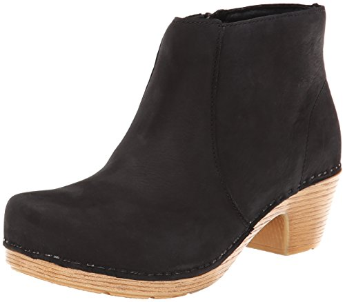 Dansko Women's Maria Boot, Black Milled Nubuck, 36 BR/5.5-6 M US