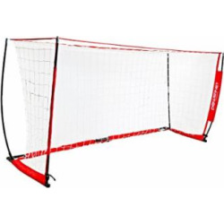 PowerNet Soccer Goal 14×7 Portable Bow Style Net | Instant Collapsible Metal Base | Durable Vertical Posts | Quick Setup Easy Folding Storage | 1 Goal+1 Wheeled Carrying Bag | 14 x 7 Full Size