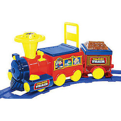 6V Talking Train with Track Battery-operated Ri de On