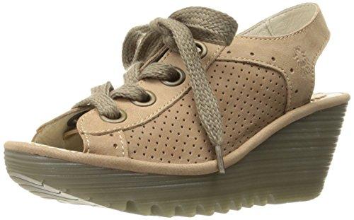 FLY London Women's Yuta617fly Platform Sandal, Beige Cupido, 37 EU/6.5-7 M US