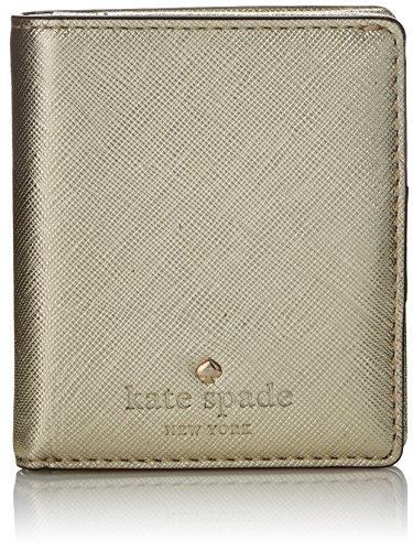 kate spade new york Cedar Street Small Stacy Bifold, Gold, One Size