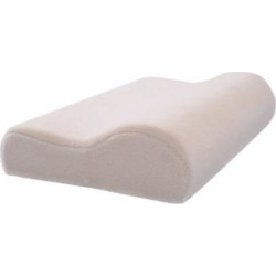 GHP Pack of 2 Cream 20″x12″x4″ Sleep Breathable Moisture Absorbent Memory Foam Pillows