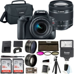 Canon EOS Rebel SL2 SLR Camera w/ 18-55mm Lens & 64GB Memory Bundle
