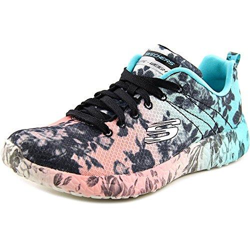 Skechers Women's Burst Wild Rose Sneaker,Black/Multi,US 7 M