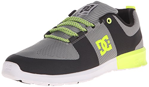 DC Lynx LITE Unisex Skate Shoe-U, Grey/Yellow, 7 M US