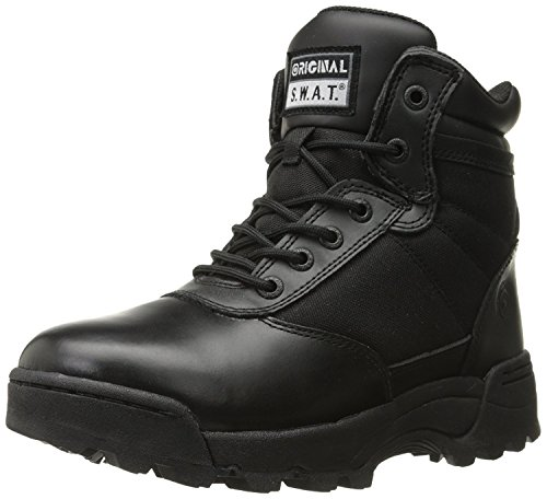 Original S.W.A.T. Men's Classic 6″ Side-Zip Military & Tactical Boot, Black, 12 M US