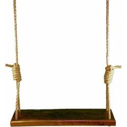 American Black Walnut 42 Inch Wooden Tree Swing – Outdoor Swings Patio Wood Rope