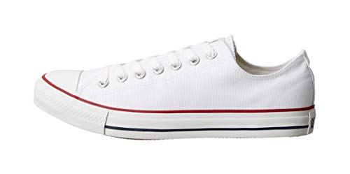 Converse Unisex Chuck Taylor All Star Low Top Sneakers – (Optical White ) – 6.5 Men 8.5 Women