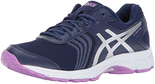 ASICS Womens Gel-Quickwalk 3 Walking Shoe, Indigo Blue/Silver/Violet, 7.5 Medium US