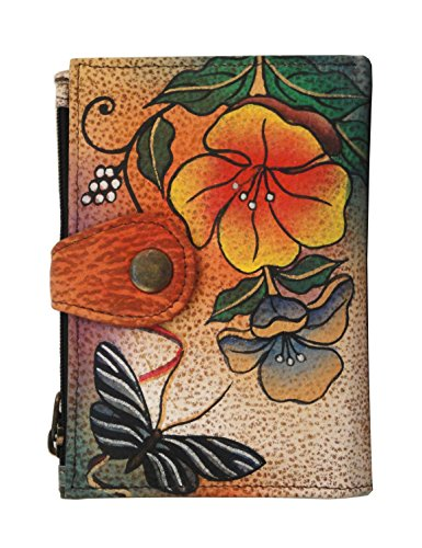 Anna by Anuschka Hand Painted Leather Ladies Wallet | Wild Flower