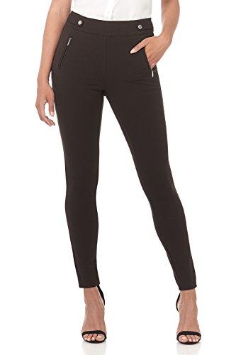 Rekucci Women's Secret Figure Pull-On Knit Skinny Pant (2,Brown)