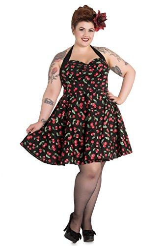 Hell Bunny Plus Size Cherry Pop Rockabilly Mini Dress (4X)