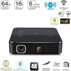 2G+16G HD 4K DLP Home Theater Projector Wifi 1080P Mini Android Cinema w Battery
