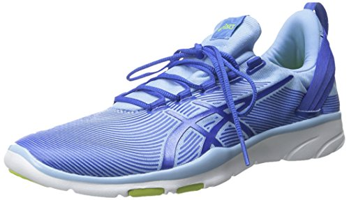 ASICS Women's Gel-Fit Sana 2-W, Bell/Blue Purple/Lime, 9.5 M US