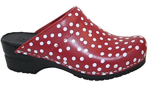 Sanita Original-Fenja Open PU Clogs 4 Red Size 38 M EU