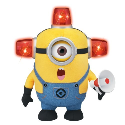 Kaito glue minion Boss 10 inches Talking & Light-up plush Bido Fire Man minion Stewart / DESPICABLE ME TALKING & LIGHT-UP PLUSH BEE-DO FIREMAN MINION STUART