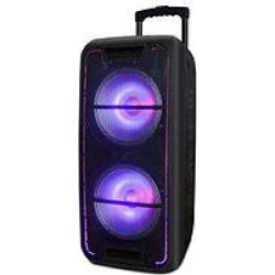 Edison Professional EP-360 High Power Twin 10″ Bluetooth PA Speaker System with LED Lighting