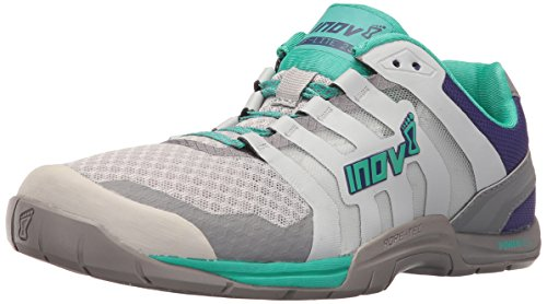Inov-8 Women's F-LITE 235 V2 Cross-Trainer Shoe, Light Grey/Teal/Purple, 9 E US