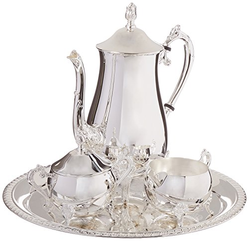 Elegance Silver 8917 Hotel Collection Coffee Service Set, 4 Piece