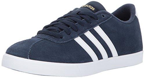 adidas Women's Shoes | Courtset Sneakers, Collegiate Navy/White/Metallic Gold, (8.5 M US)