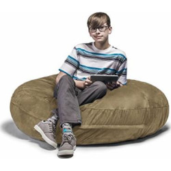 Jaxx 4 ft Cocoon Bean Bag Chair, Camel
