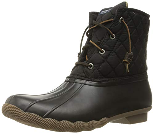 Sperry Top-Sider Women's Saltwater Rain Boot, Black Quilted, 8 M US