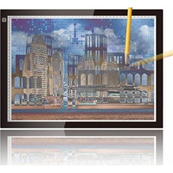 A3 Ultra-thin Portable LED Light Box Tracer USB Power Cable Dimmable Brightness Artcraft Tracing Light Pad Light Box For Diamond Painting Artists Drawing Sketching Animation Stencilling X-ray Viewing