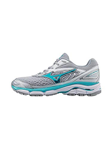 Mizuno Running Women's Wave Inspire 13 Shoes, Silver/Tile Blue/Griffin, 11.5 B US