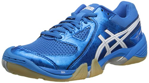 ASICS Women's Gel Dominion Volley Ball Shoe,Diva Blue/White/Silver,9 M US