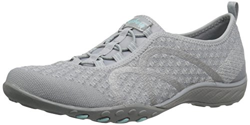 Skechers Sport Women's Breathe Easy Fortune Fashion Sneaker,Grey Knit,6 M US