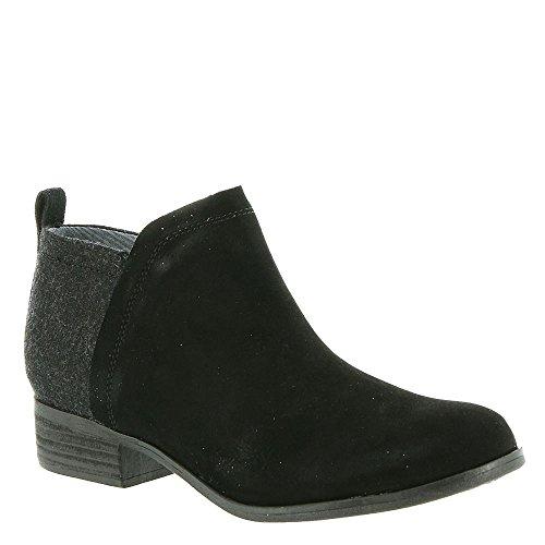 TOMS Womens Majcut Cotton Open Toe Casual Mule Sandals, Black/Black, Size 6.0
