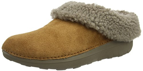 FitFlop New Women's Loaff Snug Slipper Chestnut 8