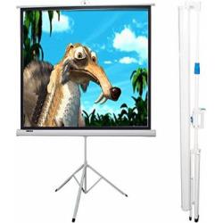 Maxstar Screens 60″x60″ Tripod Portable Projection Screen, 84″ Diagonal 1:1 Aspect Ratio (Matt White)