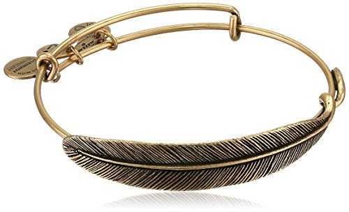 """Alex and Ani Earth Sultry """"Quill Feather"""" Rafaelian Gold-Tone Finish Bracelet"""