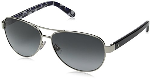 Kate Spade Women's Dalia 2 Aviator, Silver Dots & Gray Gradient, 135 mm