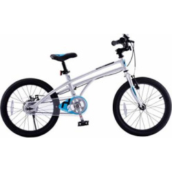 Royalbaby H2 Kids Bike, 14-16-18 inch Wheels, Gift for Boys and Girls (Silver/Blue, 18″)