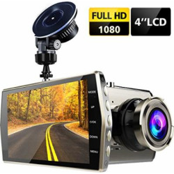 Dash Cam, Audoc Car Camera FHD 1080p Big 4″ LCD 170 Degree Wide Angle Dashboard Camera Recorder with G-Sensor, Parking Monitor, Night Vision, WDR, Loop Recording