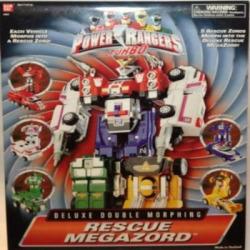 Power Rangers Turbo Rescue Megazord Deluxe Double Morphing Action Figure