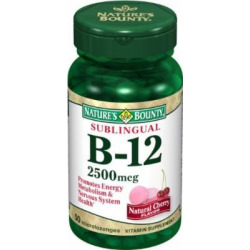 Nature's Bounty Special Pack Of 5 Natures Bounty Vitamin B-12 2500Mg Subl 3860 50 Tablets by Nature's Bounty