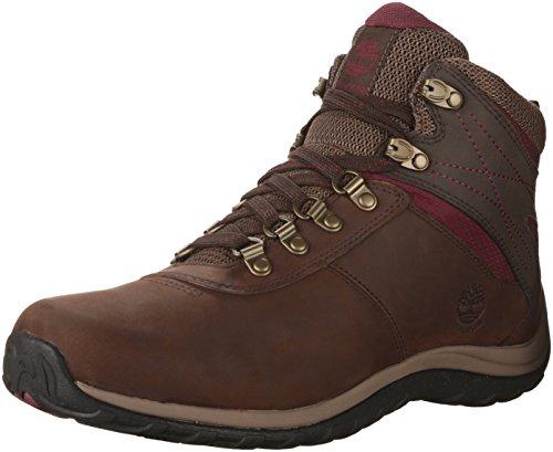 Timberland Women's Norwood Mid Waterproof Hiking Boot, Dark Brown, 5.5 Medium US