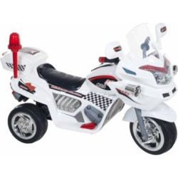 Ride on Toy, 3 Wheel Motorcycle Trike for Kids, Battery Powered Ride On Toy by Lil' Rider – Ride on Toys for Boys and Girls, 2 – 6 Year Old – White