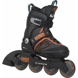 K2 Skate Boy's Raider Pro Inline Skates, Black/Orange, 1-5