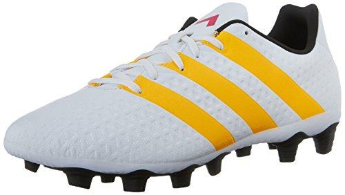 adidas Performance Women's Ace 16.4 FXG W Soccer Shoe,White/Gold/Black,9.5 M US