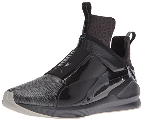 PUMA Women's Fierce Metallic Cross-Trainer Shoe, Black, 8 M US