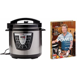 Power Pressure Cooker XL 8 Qt with Eric Theiss' Power Pressure Cooking Cookbook