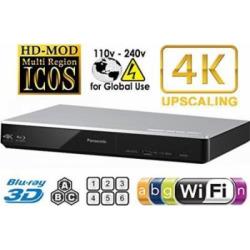 PANASONIC DMP-BDT270 2K/4K Multi Region All System Blu Ray Disc DVD Player – PAL/NTSC – 2D/3D – Wi-Fi – 100~240V 50/60Hz World-Wide Use & 6 Feet HDMI Cable