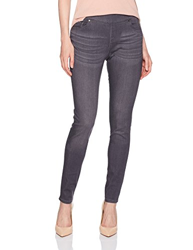 LEE Women's Missy Modern Series Midrise Fit Dream Jean Harmony Pull On Legging, Luxe Gray, 16 Short