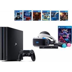 PlayStation VR Launch Bundle 8 Items:VR Launch Bundle,PlayStation 4 Pro 1TB,6 VR Game Disc Until Dawn: Rush of Blood,EVE: Valkyrie, Battlezone,Batman: Arkham VR,DriveClub,Battlezone Battlezone