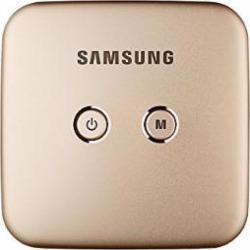 Samsung Smart Beam Portable Mini Projector Wi-Fi Connection, Screen Mirroring (Samsung Smart View App), 4000mAh Battery (Gold (SSB-10DLFF08))