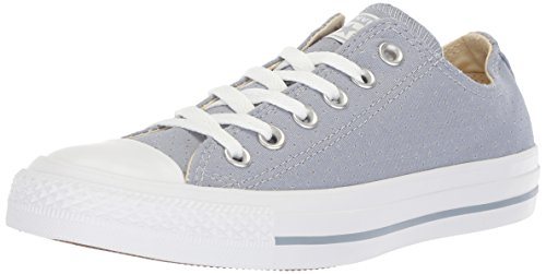Converse Women's Chuck Taylor All Star Perforated Canvas Low Top Sneaker, Glacier Grey White, 6 M US